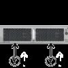 nexus switch n2k 2248TP-E back view