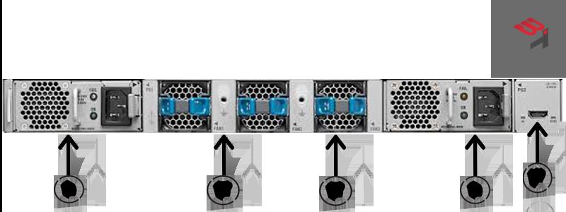 nexus switch n2k 2332TQ BACK VIEW