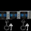 nexus switch n2k 2348TQ back view