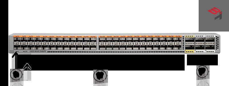 nexus switch n2k 2348UPQ FRONT VIEW